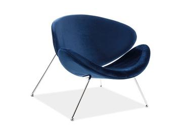 Signal Meble Major Velvet Chair Navy/Chrome