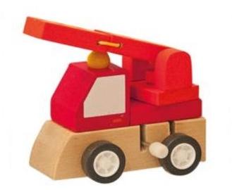 Woody Clockwork Construction Machine Red 90999