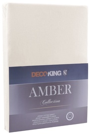 Palags DecoKing Amber, smilškrāsas, 160x200 cm, ar gumiju