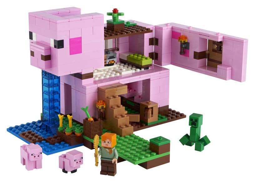 Konstruktorius lego Minecraft Kiaulidė, 21170