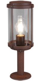 Trio Tanaro rūdžių atspalvio stulpelinis šviestuvas 40 cm aukščio, IP44, 1x E27