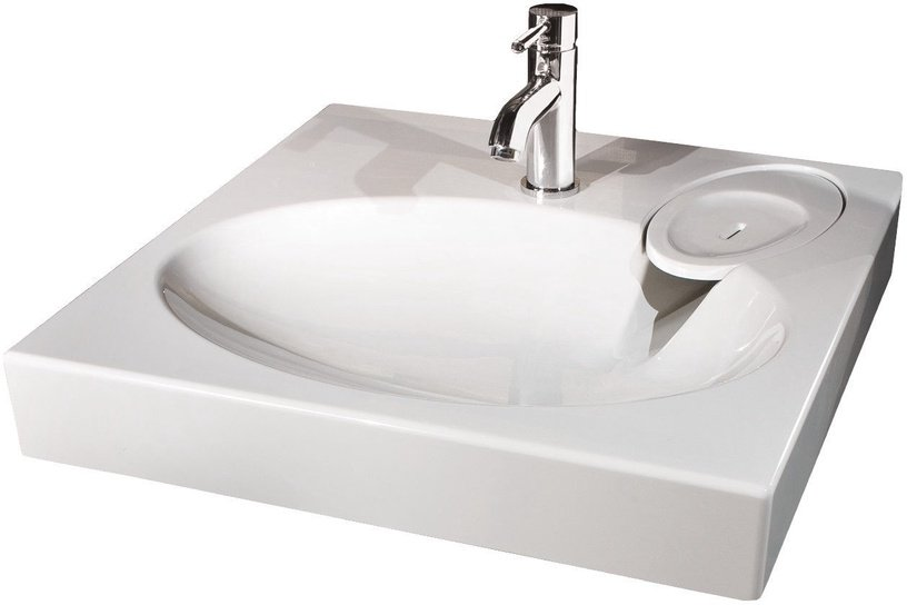 Paa Claro 600x600mm Washbasin White with Fixings