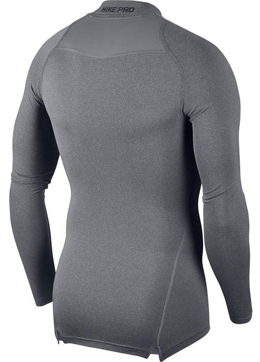 Nike Men's T-shirt Pro Cool Compression Mock LS 838079 091 Gray 2XL