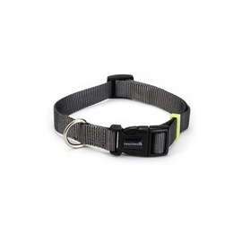 Beeztees Nylon Collar Uni Dark Grey 35-50x2cm