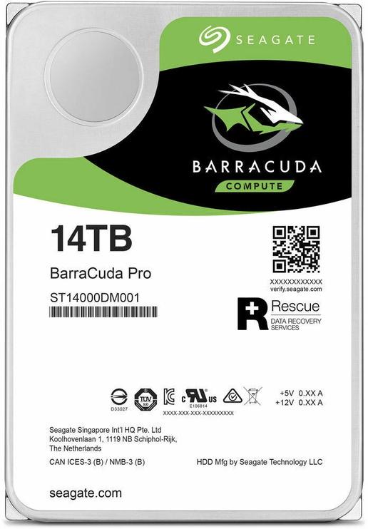 Seagate BarraCuda Pro 14TB 7200RPM 256MB SATAIII ST14000DM001