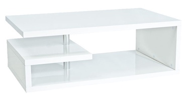 Kafijas galdiņš Signal Meble Modern Tierra Glossy White, 1000x600x420 mm
