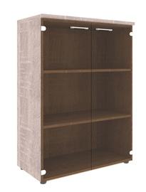 Skyland Xten XMC 85.2 Office Cabinet w/ Glass Door Sonoma Oak