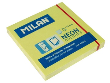 Milan Sticky Notes Neon Colours Yellow 85434
