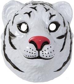 Maska White Tiger, balta, 220 mm