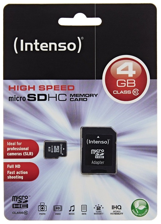 Intenso 4GB Micro SDHC Class 10 + Adapter
