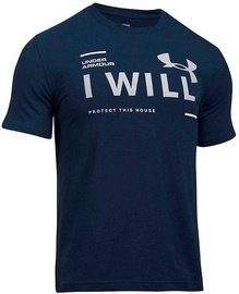 Under Armour T-Shirt I Will SS 1297961-410 Blue S