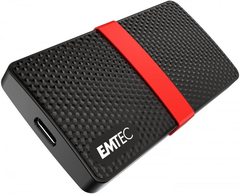 Жесткий диск Emtec X200, SSD, 512 GB, черный/красный