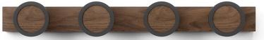 Вешалка для одежды Umbra Hub Rail 1016843-048, коричневый/черный