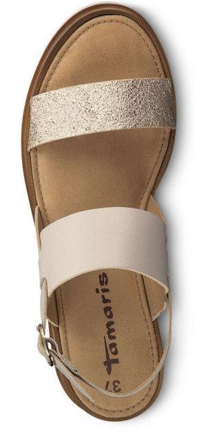 Basutės Tamaris Sandal 1-1-28226-22 Taupe Gold 42