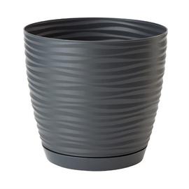Form Plastic Flower Pot Sahara Petit Ø19cm 3040-014 Black