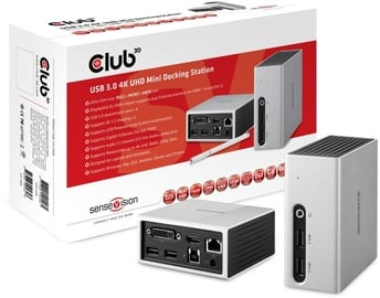 Club 3D SenseVision USB 3.0 4K UHD Mini Docking Station