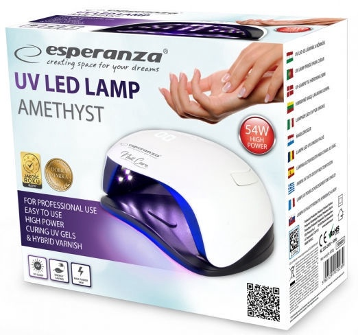UV LED lamp küüntele Esperanza UV LED Lamp For Nails Amethyst 54W EBN005