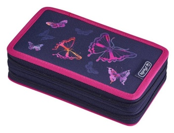 Herlitz Double Pencil Case 23Pcs Rainbow Butterfly