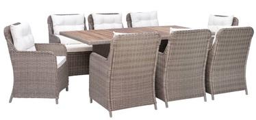 Комплект уличной мебели VLX Garden Dining Set 3057801, кремовый/коричневый, 8 места