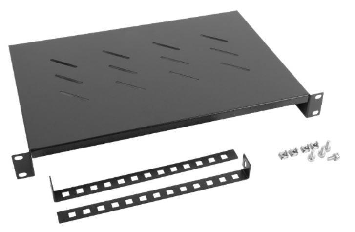 Serveririiul Lanberg Fixed Shelf 19'' 483x300mm Black