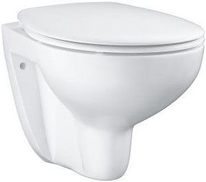 Sienas tualete Grohe BauCeramic Rimless, ar vāku, 368 mm x 531 mm