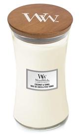 Ароматическая свеча WoodWick Caramel Coconut & Tonka White, 610 г