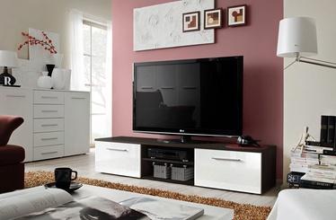 TV-laud ASM Bono II Wenge/White Gloss, 1800x450x350 mm