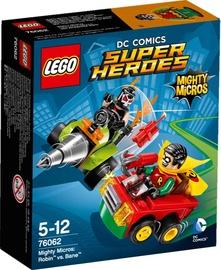 Konstruktorius LEGO Super Heroes Mighty Micros Robin Vs Bane 76062
