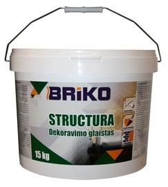 Dekoravimo glaistas Briko Structura, balta, 15 kg