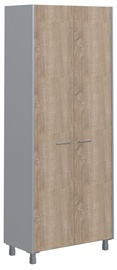 Skyland Offix New Office Cabinet OHC 87.1 Light Sonoma Oak/Metallic