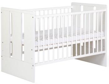 Vaikiška lova Klups Paula White, 120x60 cm