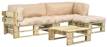 Комплект уличной мебели VLX 4 Piece Garden Lounge Set 275308, песок, 5 места