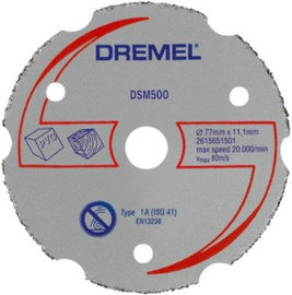 Dremel DSM500 Universal Carbide Cutting Disc 77mm
