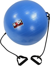 Body Sculpture Anti-Burst Gym Ball + Fitness Rubber Bands 65cm Blue