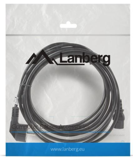 Lanberg Cable IEC320 C13 / Schuko 5m Black
