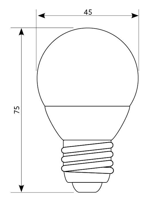 Kobi MiniBall LED 4.5W/3000K E27 045381