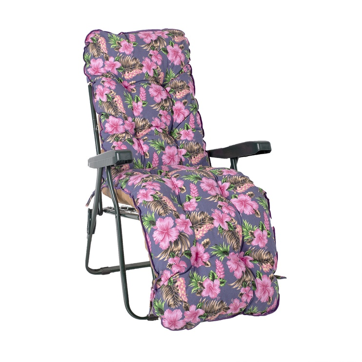 Home4you Baden-Baden Summer Chair Cover Pink Flowers
