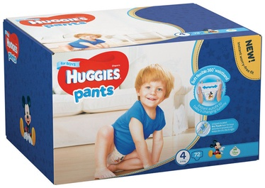 Sauskelnės Huggies Pants Boy, 4 dydis, 72 vnt.