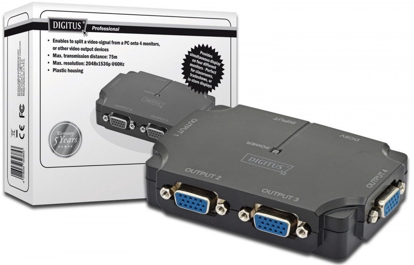 Digitus VGA Splitter 4-port DS-42120-1