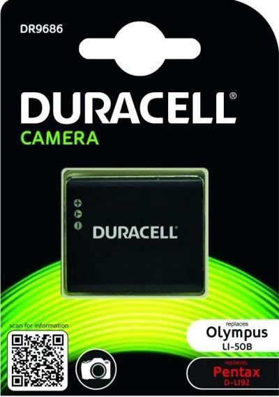 Duracell Premium Analog Olympus LI-50B/Pentax D-LI92 Battery 770mAh