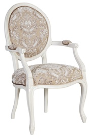 Home4you Chair Elizabeth With Armrests White 83922