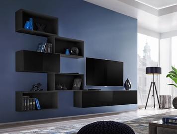 ASM Blox VIII Living Room Wall Unit Set Black
