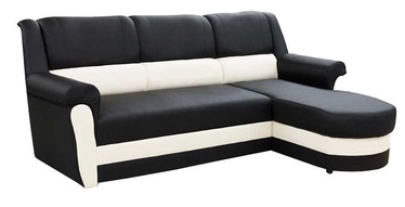 Stūra dīvāns Idzczak Meble Bruno Black/White, labais, 240 x 170 x 97 cm