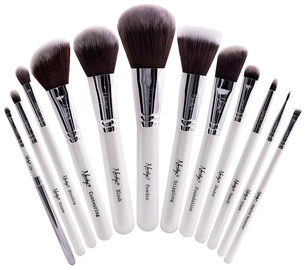 Nanshy Masterful Collection Pearlescent White Make-up 12pc Brush Set