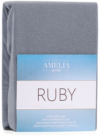 AmeliaHome Ruby Frote Bedsheet 120-140x200 Steel 70