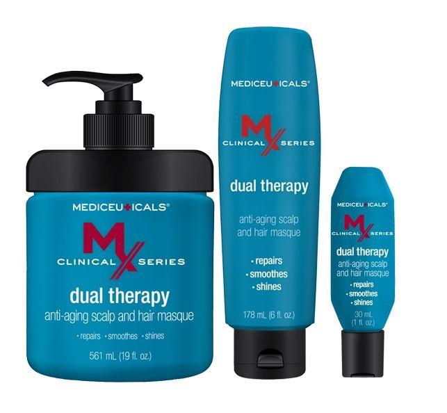 Kaukė plaukams Mediceuticals MX Dual Therapy Anti-Aging, 561 ml
