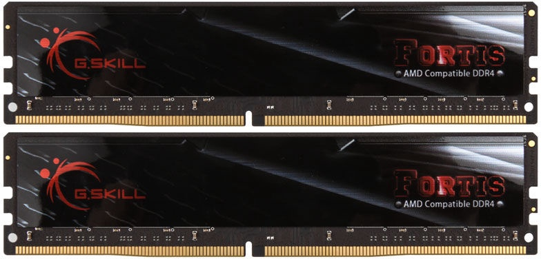 G.SKILL Fortis for AMD Black 32GB 2133MHz CL15 DDR4 KIT OF 2 F4-2133C15D-32GFT