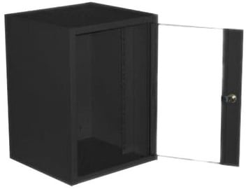 Netrack Wall Cabinet 10'' 9U/300mm Glass Graphite