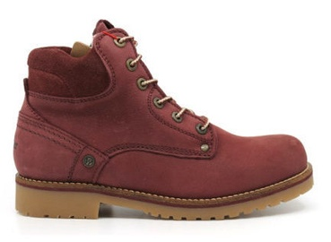 Wrangler Yuma Lady Fur Leather Winter Boots Burgundy Red 41