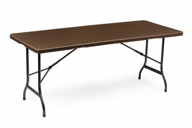 Dārza galds ModernHome Banquet Foldable, brūna, 180 x 74.5 x 73 cm